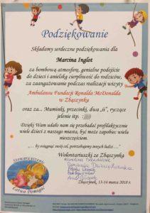 Marcin Inglot podziękowania