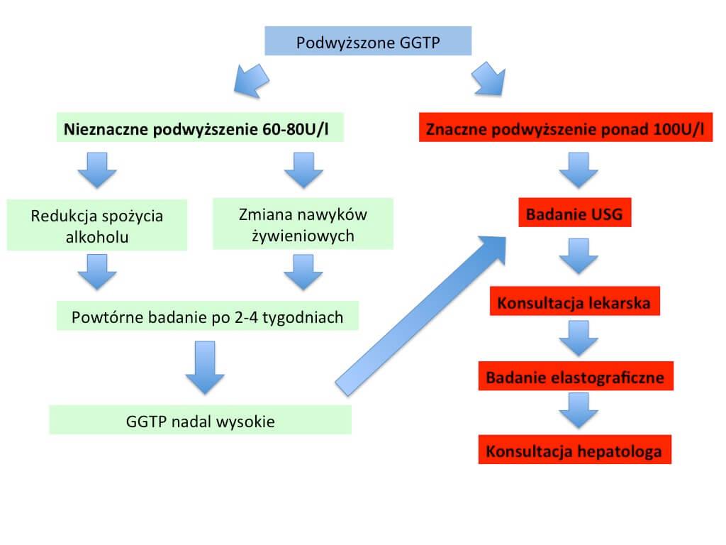 ggtp podwyższone normy - schemat działania